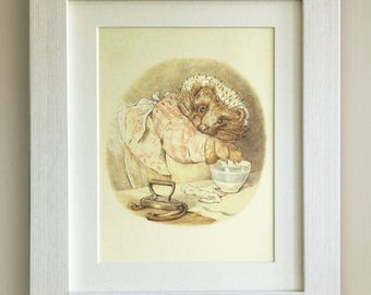 """BEATRIX POTTER Print, New Baby/Birth, Nursery Picture Gift, *UNFRAMED* Lovely Birth or Christening Gift, 10""""x8"""", Mrs Tiggywinkle"""