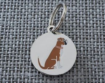 Boxer dog tag / keyring