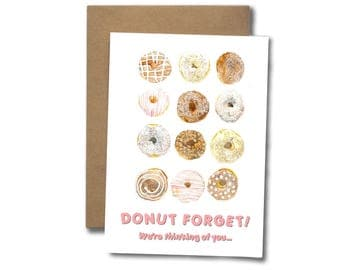 Donut forget we're thinking of you  |  GREETING CARD