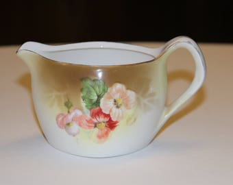 Vintage  Ceramic Creamer marked RS Germany floral pattern hand painted