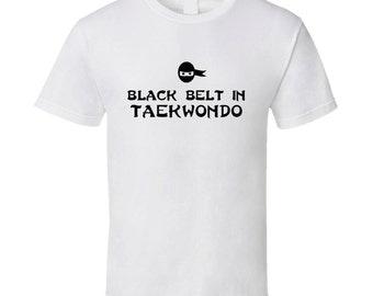 Black Belt In Taekwondo Sport Hobby Master T Shirt
