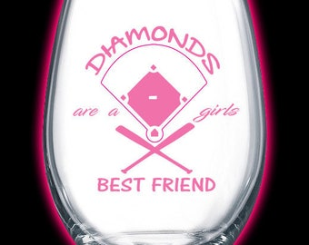"Diamonds are a girls best friend ""baseball"""