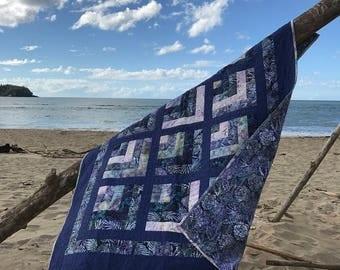 Blue Hawaii Batik Lap Quilt