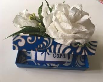 Money holder Gift card holder celebration card holder with Ferrero Rocher Candy arrangement. Paper Flowers Birthday Gift Candy gift