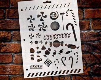 "Candy Land Stencil - 8 1/2"" x 11"" - SKU:STCL132"