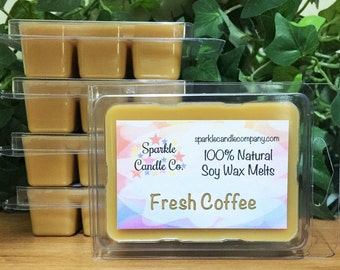 FRESH COFFEE SOY Wax Melts - Coffee Scented Wax Melts - Soy Wax Tarts - 1 package - Coffee Lover Gift