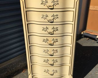Vintage French Lingerie Chest Tall Dresser