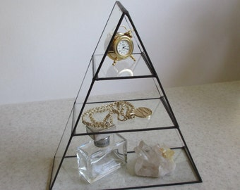 Glass Pyramid Display Shelf - Show off those treasures and your collections