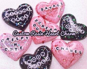 Custom Heart Charm