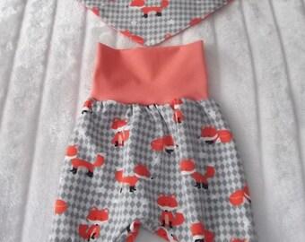 Baby set 3 PCs.  Mitwachsen pants, beret, scarf 50-56