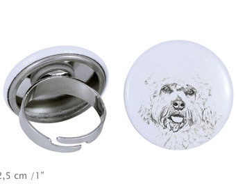 Ring with a dog- Dandie Dinmont terrier