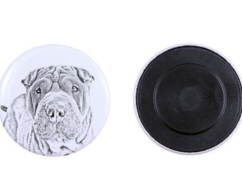 Magnet with a dog - Shar Pei