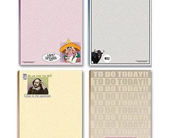 Funny Notepads Assorted Pack - 4 Funny To Do List Notepads - 640