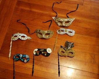 Steampunk inspired masks