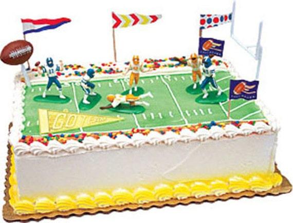 Cake Decorating Kit Matchbox : Touchdown Football Cake Decorating Kit Decoration Topper