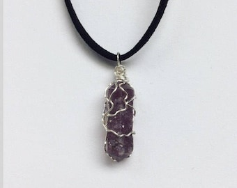 Lepidolite // Lepidolite Necklace // Crystal Jewelry //