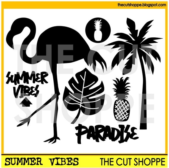 The Summer Vibes cut file includes 7 summer themed images, that can be used for your scrapbooking and papercrafting projects.