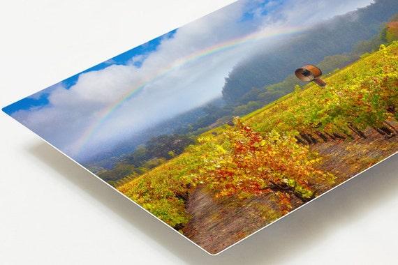 Napa valley metal print rainbow metal home decor california for Napa valley home decor