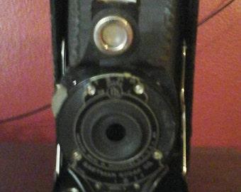 Antique Eastman Kodak No 2A Folding Hawkeye Camera
