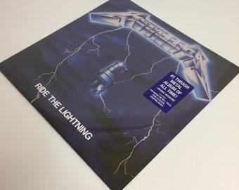 Metallica-Ride the lightning record album LP