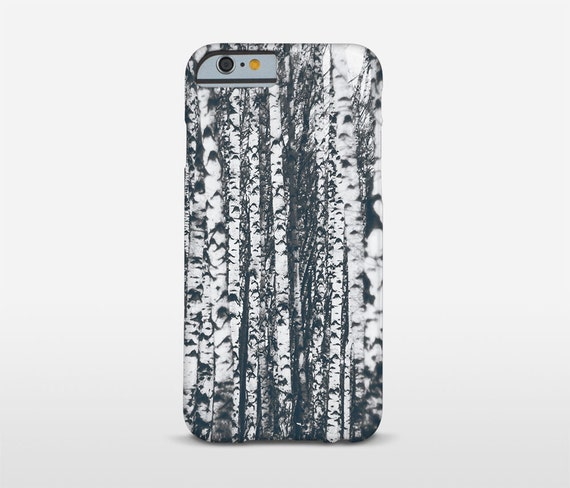 Tree Phone Case, Birch Forest, Nature Phone Case, Landscape Photo, Galaxy S7 Edge, iPhone 7 Plus, iPhone 6 Cases and more
