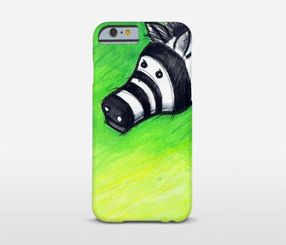 Zebra Phone Case, Green Cell Phone, Animal Illustration, iPhone 7 Plus, iPhone Cases, Galaxy S6 Edge, Galaxy Note Case and more
