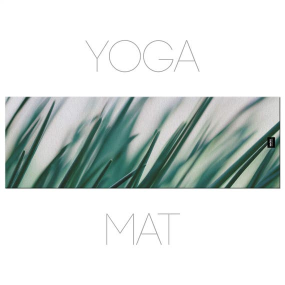Meditation Mat, Grass Yoga Mat, Nature Photo, Gift For Her, Yoga Accessories, Green Yoga Mat