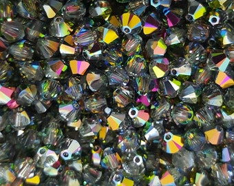 Swarovski 4mm Bicone Crystal Beads - Vitrail - Select 10, 20, 50 or 100
