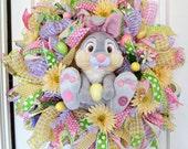 Thumper Easter Wreath, Easter Bunny Wreath, Easter Wreath