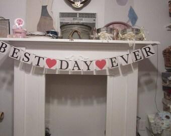 "Wedding Banner ""Best Day Ever"" Banner Engagement  Bridal Shower Bannre"