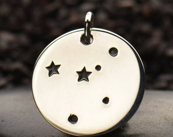 Sterling Silver Cancer Constellation Charm