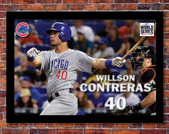 2016 World Series | Willson Contreras Poster | 19 x 13 inches