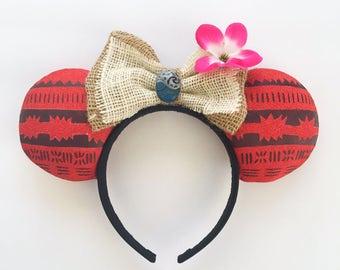 Moana Inspired Mouse Ears