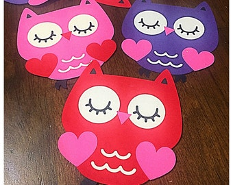 Owl Valentine's Day cards