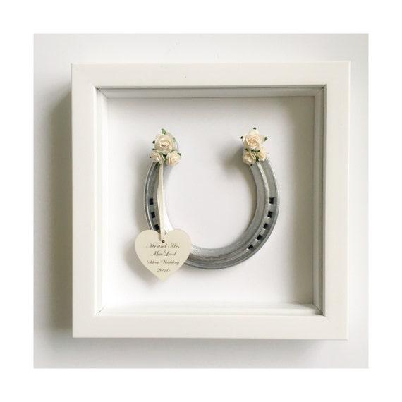 Personalised Wedding Horseshoe Gift : Personalised wedding horseshoe - traditional bridal gift - wedding ...