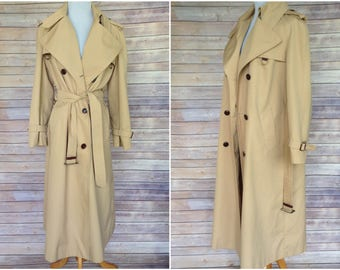 1970s Trench Coat | Trench Coat | Etienne Aigner Trench | Classic belted trench | Floor length trench coat | vtg trench coat