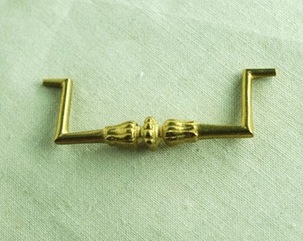 H 103 Antique Ormolu Brass or Bronze Drawer Pull Handle, 50 plus years old