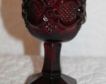 B1 Cape Cod Ruby Red Avon Discontinued 1975 - 1992 Cordial or Red Wine Glass Garnet