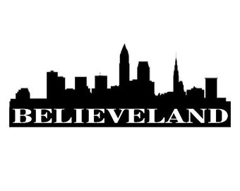 Cleveland Sticker Etsy - Custom vinyl decals cleveland ohio