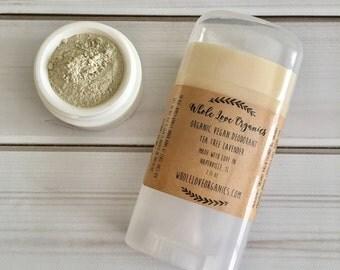 Armpit DETOX BUNDLE - Organic Deodorant - Vegan Dedorant - Aluminum Free - Underarm Detox Clay - Bentonite Clay