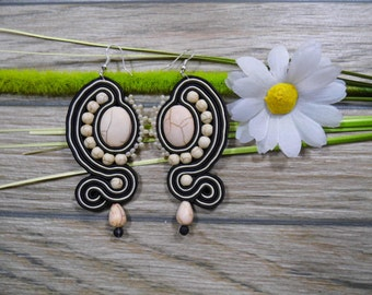 earrings / soutache technique / handmade (nr85)