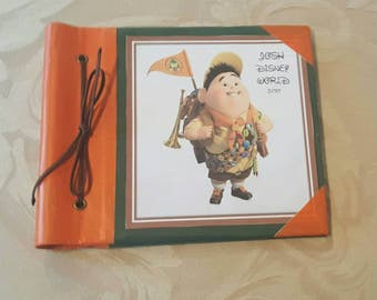 Russell from Up Disney Autograph Book 6 x 6 or 8 x 8