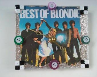 Handmade Acrylic Blondie Clock, Retro Clock, Blondie, Debbie Harry, Blondie Wall Clock, Functional Art, New Wave, Made By Mod.