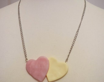 "Pink Vanilla ""heart"" necklace"