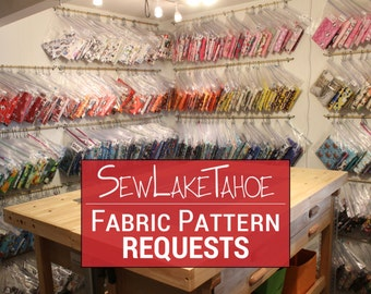 Can't Find the Perfect Fabric? Just ASK!!! Note: This isn't a Listing. Please send me a conversation / custom request