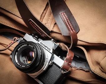 Leather Camera Strap | Leather Camera Strap with Neck Pad  | Wide Leather Camera Strap | DSLR Camera Strap