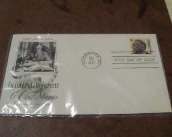1967 Franklin D Roosevelt 6cent FIRST DAY COVER