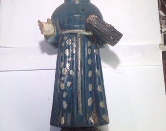 Antique St. Anthony Wooden Statue