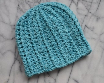Light Blue Slouchy Hat - Ready to Ship