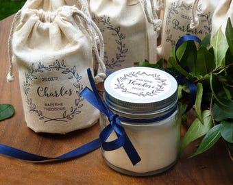 custom 10 candles - guest gift baptism